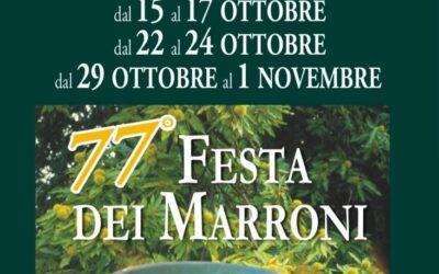 Dal 15 Ottobre al 1° Novembre torna la 77′ Festa dei Maroni IGP